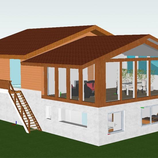 Projet – Extension d'un chalet en bois